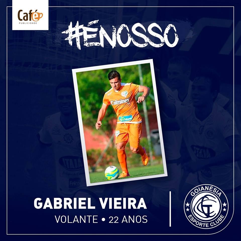 Gabriel Vieira é um dos reforços do Azulão.(Divulgação/Goianésia)