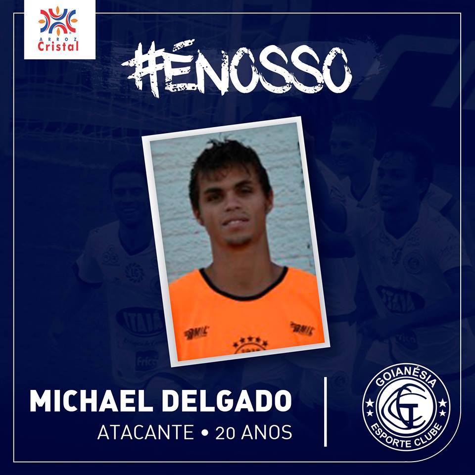Michael Delgado é oriundo da base do Galo Carijó.(Divulgação/Goianésia E.C.)