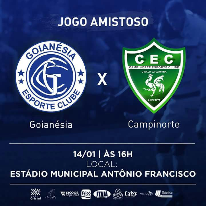 Arte: Goianésia Esporte Clube.